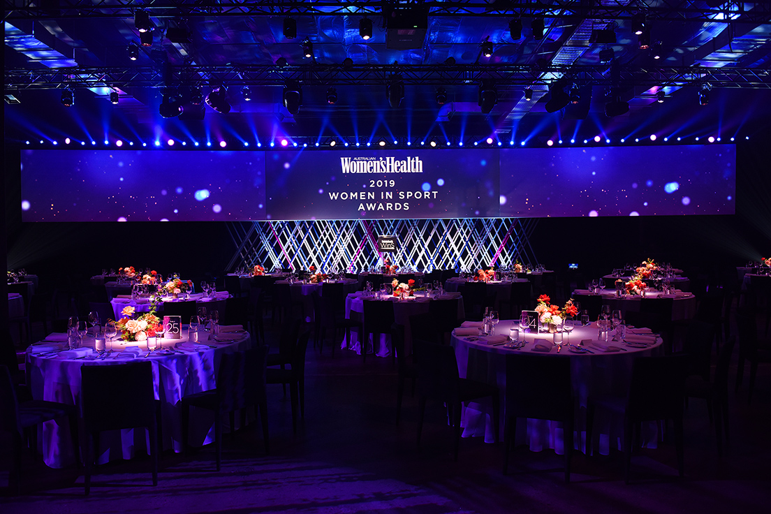 The Women's Health Awards gala dinner hosted at The Venue Alexandria