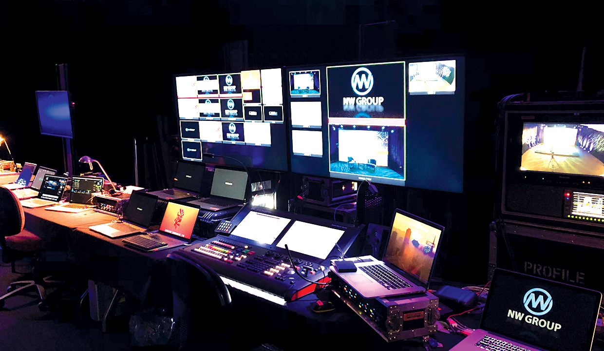Behind the scenes with The Venue Alexandria audio visual team.