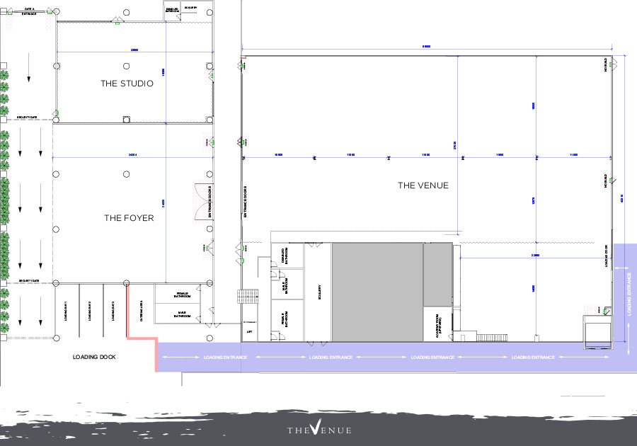 This document shows an overview of all three spaces at The Venue Alexandria.