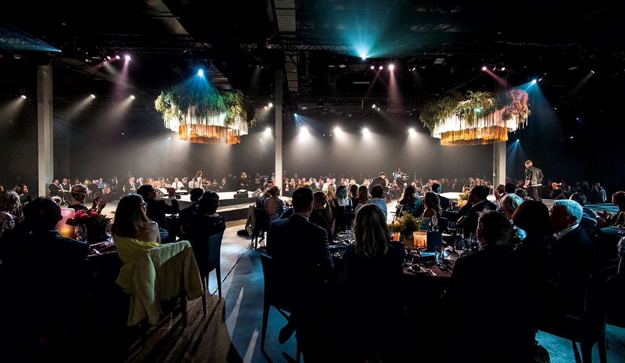 The Venue Alexandria transformed for the Australian Paralympics Charity Event.