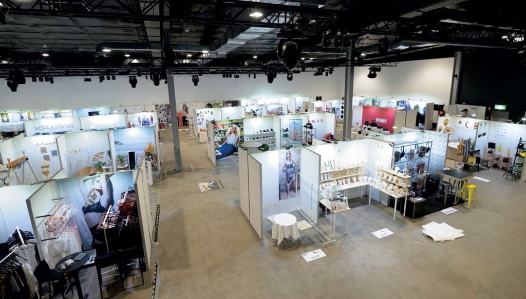 Birds eye view of The Venue Alexandria set up for a fashion pop up sale and exhibition.