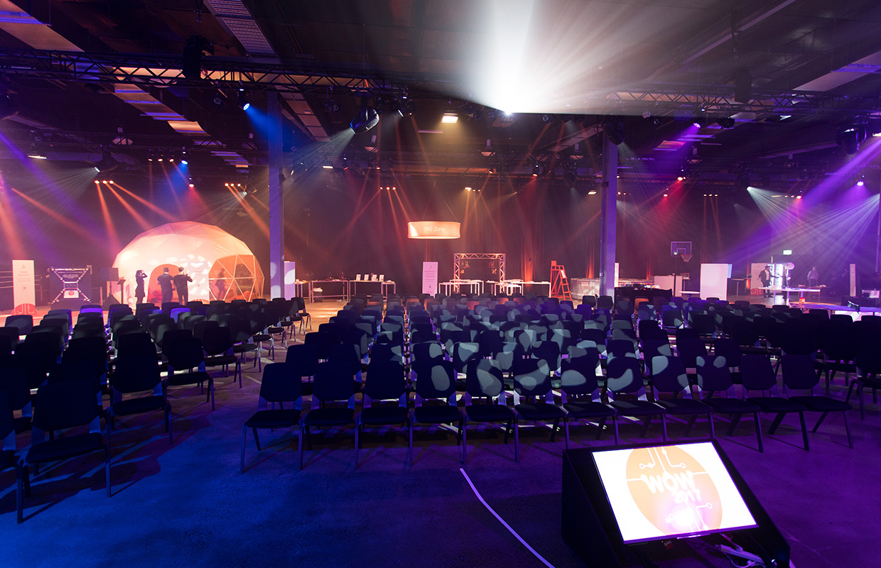 The Venue Alexandria set up for a client conference and product launch.
