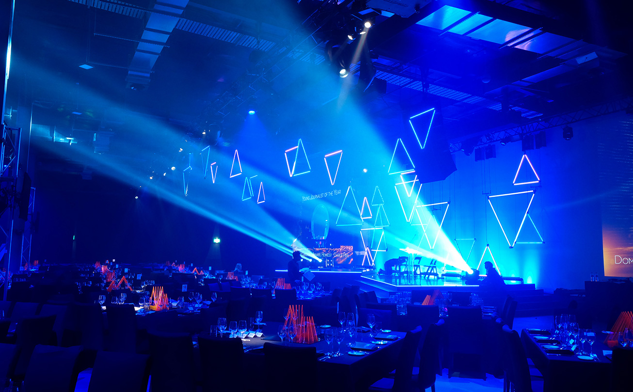 Behind the scenes at The Venue Alexandria for the News Corp Awards Dinner.