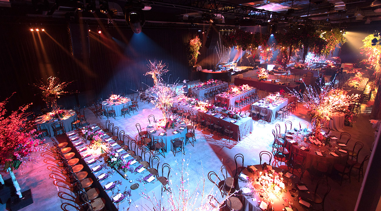 The Venue Alexandria set up for a spectacular wedding celebration.